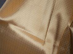 Golden Silk Brocade Fabric Remnant Gold Banaras Art Silk