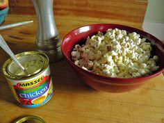 Curb your unhealthy snack attack with popcorn topped with Massel bouillon powder and pepper. It gives it a great, almost cheesy, flavor and healthier then a bag of chips. Try the beef style powder with some truffle oil is excellent as well.