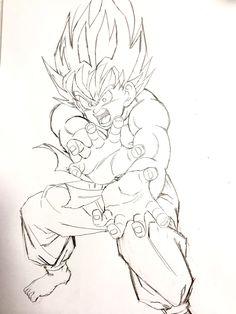 """Super Kamehameha!"" Drawn by: Young Jijii. Found by: #SonGokuKakarot"
