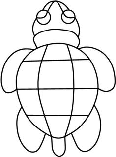 patterns for stained glass | stained glass pattern:Turtle