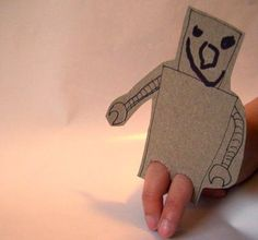Make cardboard finger puppets for retelling stories! {repinned by First Grade Frame of Mind}
