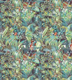 Jungle Beat Fabric by Matthew Williamson   Jane Clayton