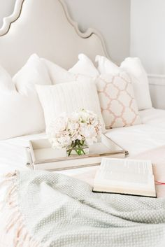 white and pink glam bedding from Walmart