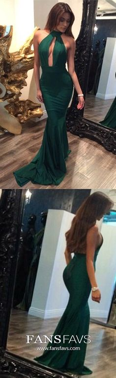 Green Prom Dresses Long, Mermaid Formal Evening Dresses Jersey, Elegant Wedding Party Dresses Halter, Sexy Pageant Graduation Party Dresses Open Back School Formal Dresses, Pageant Dresses For Teens, Vintage Formal Dresses, Winter Formal Dresses, Girls Formal Dresses, Formal Evening Dresses, Homecoming Dresses, Prom Gowns, Ball Gowns