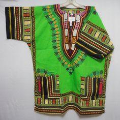 Men Dashiki African Shirt Beach Top Vintage Boho Blouse Hippie Style Tribal Wear #ThailandImported #DashikiHawaiian