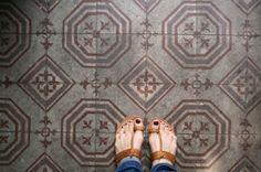 Look! Painted Concrete Tiles