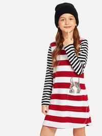 To find out about the Girls Striped Print Tee Dress at SHEIN, part of our latest Girls Dresses ready to shop online today! Sweatshirt Dress, Tee Dress, Dress Girl, Belted Dress, Girls Cuts, Fit Flare Dress, Stripe Print, Girls Dresses, Prom Dresses