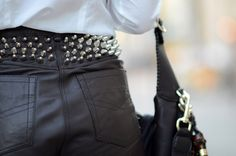 leather and spikes