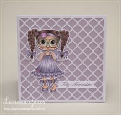 """Luciana Yaros Scrapbooking: Cartão """"Clean and Simple"""""""