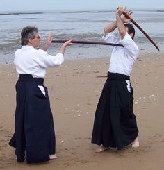 Prise aïkido avec Bokken