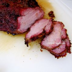 Hickory Smoked Tri-Tip with a Sweet and Spicy Homemade Rub  -- similar to mine slightly different spicing, give it a try.