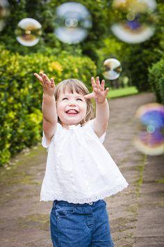 Children's portrait with bubbles - Wahroonga