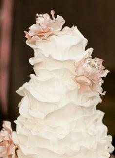 delicate white petal cake.