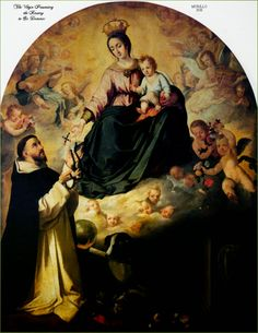 São Domingos de Gusmão, o santo do rosário.