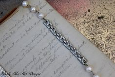 Vintage Art Deco Rhinestone and Pearl One of a Kind by simplymeart