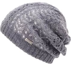 Get a slouchy look with cable knit warmth in the grey Elsie beanie from Coal  Headwear. This oversize beret-fit beanie features a soft fine acrylic 74d5f3d66d0e