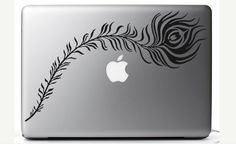 Peacock Feather decal for laptop