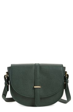 The gorgeous green color of this faux leather crossbody bag is so on trend for fall. Definitely going to check it out at the Anniversary Sale this weekend.