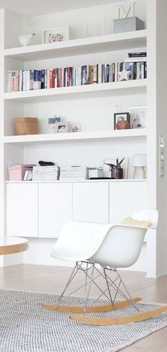 7 Aligned Clever Ideas: Small Floating Shelves Tvs floating shelf above bed diy.Floating Shelves Kitchen White floating shelves bedroom how to make. Decor, Living Room Storage, Home Living Room, Shelves, Interior, Home Decor, Room Inspiration, House Interior, Home And Living