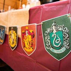 Pin for Later: Everything You Need For a Magical Harry Potter Halloween Party Decorate Your House in Hogwarts House Motifs Make sure each house banner is flying high and showcased to avoid hurting anyone's feelings.