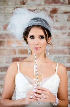 pretty wedding makeup in Modern Black and Gold Wedding Ideas featured on Wedding Chicks!