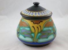 Gouda Pottery Covered Pot, Schoonhoven