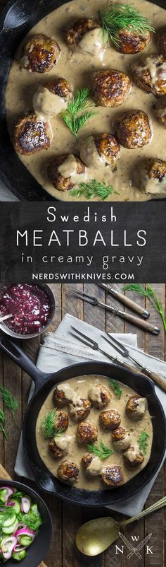 Real, homemade Swedish meatballs in a rich, cream gravy is outrageously delicious and easier than a trip to Ikea.