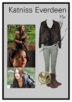"""Katniss Everdeen"" by caro3302 ❤ liked on Polyvore featuring Paige Denim, River Island and Bamboo"