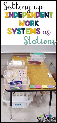 Do you want to use independent work systems (TEACCH systems) with your students with autism but aren't sure how to work them into your classroom?  This post includes different models and things that work for me. via @drchrisreeve