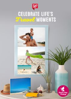 Make the vacation last forever starting today with Same Day Pickup! Create a custom photo poster, and tell the story in an 8.5x11 custom cover photo book featuring a full cover photo. Pick them up today!