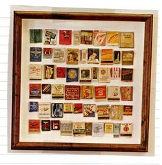 Display matchboxes or bar coasters collected on your travels by grouping them in a large frame, or individually frame a few special ones