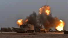 Bombarding at action ,Saudi Forces