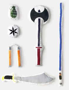 pillow fight weapons. actually I think my 'grown' kids would like these!