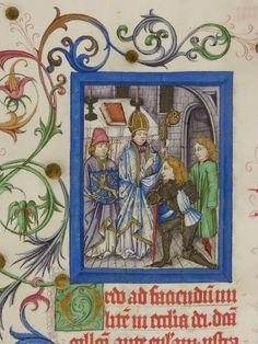 Pontifikale Adolfs II. Erzbischof von Mainz, vor 1474 Meister der Gauklerszene im Hausbuch Blatt073v