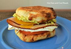 Make this clean by using whole wheat English muffin, egg whites, and fat free slice cheese