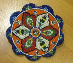 Hand made tile ceramic Pottery trivet for hot pots decoration or tea pots _ n 1