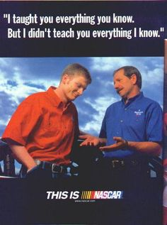 Sr and Jr nascar lessons Nascar Quotes, Racing Quotes, Nascar Racing, Drag Racing, Nascar Illustrated, The Intimidator, Chase Elliott, Senior Quotes, Just A Game