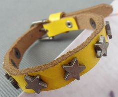Shoply.com -8 stars yellow leather bracelet fashion watch buckle design. Only $5.50
