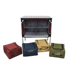 Camping Sherpa Table Roll Top Compartment Storage Adjustable Padded Bags Outdoor #CampChef