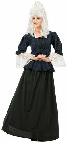 211e7a875b22 Martha Washington Colonial Woman Adult Costume. Wholesale Halloween CostumesFull  Length SkirtsBlue Satin DressSatin ...