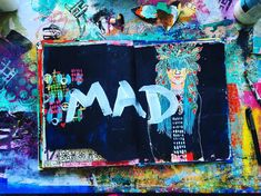 Working it out in my #artjournal.  #artjournaleveryday #whatjuliemade #angermanagement #tcwstencillove #art