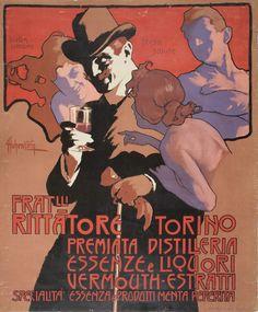 Adolf Hohenstein, poster illustration Fratlli Rittatore, 1902 or before.  Museu Nacional d'Art de Catalunya