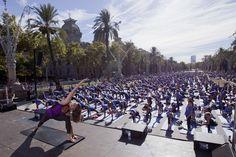 Amazing #yoga event at #Barcelona #yogamasterclass #freeyogabyoysho #freeyogabarcelona