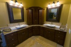 L Shaped Vanity Design Ideas, Pictures, Remodel, and Decor