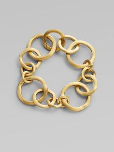 Marco Bicego: Yellow Gold Link Bracelet - prefer the necklace. Gold Link Bracelet, Bangle Bracelets With Charms, Diamond Bracelets, Link Bracelets, Silver Bracelets, Ladies Bracelet, Pandora Bracelets, Silver Ring, Bangles