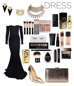 """""""New Year's Eve party"""" by blackmind3 ❤ liked on Polyvore featuring Christian Louboutin, Marc by Marc Jacobs, Yves Saint Laurent, Shay, WithChic, NARS Cosmetics, MAC Cosmetics, Maybelline, Smashbox and Forever 21"""