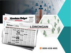 Pasang iklan baris Lowongan di koran Kedaulatan Rakyat Jogja, Kirim Materi Iklan ke 085643384005 (SMS/WA)