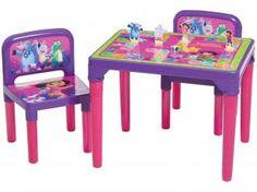 Conjunto de Mesa com 2 Cadeiras Dora Aventureira - 3 Jogos - Multibrink