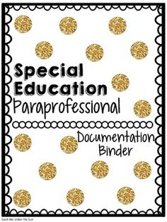 This file is designed to allow for paraprofessionals to accurately document student progress and data while doing inclusion. This file contains...- A paraprofessional job description in SPED-A time log for paraprofessionals to keep them accountable and to allow for a way to track accurate inclusion time-Student Info sheet-accomodations/modifications sheet-Goal Progress Monitoring