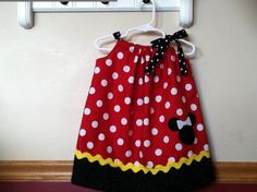 Minnie Mouse Inspired Pillowcase Dress Size 12m to 8. $20.00, via Etsy.
